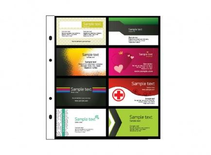 """SAFE 7581-S Schwarz Visitenkartenalbum """"Visit"""" Mappe Album mit 5 x 7564 Ergänzungsblättern + schwarzen Zwischenblättern für bis zu 80 Visitenkarten - Vorschau 2"""