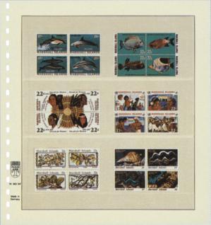 1 x LINDNER 802307 T-Blanko-Blätter Blankoblatt 18-Ring Lochung - 3 Taschen 75 / 69 / 69 x 219 mm - Vorschau 2