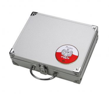 SAFE 244 ALU Sammelkoffer SMART Polen / Polska / Poland - leer für alles was gesammelt wird von A - Z