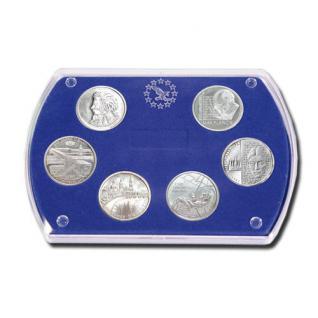LINDNER 8497 Münz-Etui 6 x 10 / 20 Deutsche Euromünzen Gedenkmünzen