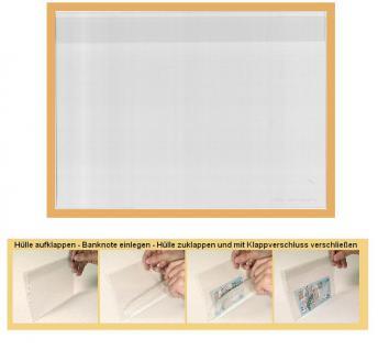 100 x KOBRA T96 Banknotenhüllen Klapphüllen Schutzhüllen Special glasklar DIN A5 214 x 152 mm Für Banknoten - Blocks - Briefmarken - Postkarten - Reklamebilder - ETB - Vorschau 1
