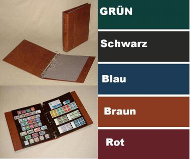 1 x KOBRA E23 Combi Einsteckblätter beideitig schwarz 3 Taschen 84 x 200 mm Ideal für Briefmarken Blocks Viererblocks Banknoten - Vorschau 3