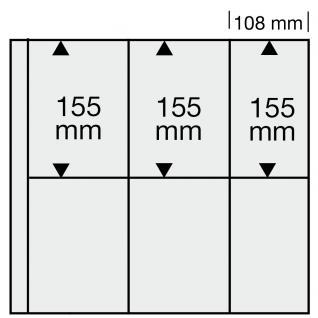 5 x SAFE 6020 Ergänzungsblätter WEISS Postkarten Ansichtskarten 6 Taschen 108 x 155 mm für 12 Karten - Vorschau 2