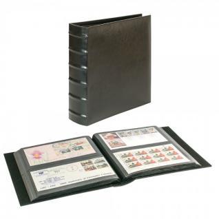 LINDNER 812XL-S Firmo L Universal Album Sammelalbum Schwarz Lang 245 x 132 mm Für 216 Briefe FDC Postkarten Ansichtskarten Banknoten Geldscheine