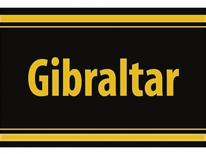 """1 x SAFE 1130 SIGNETTE Aufkleber selbstklebend Kronkolonie """" Gibraltar """""""