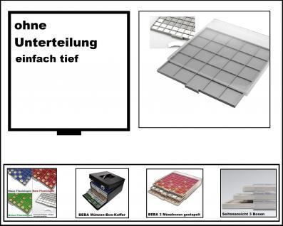 SAFE 6601-6 BEBA MÜNZBOXEN 1 quadratischem Fach 280 x 283 mm ohne Unterteilung + weißer Kartoneinlage Ideal für große Münzen & Medaillen & Anstecker - Anstecknadeln - Pin 's