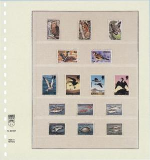 10 x LINDNER 802507P T-Blanko-Blätter Blankoblatt 18-Ring Lochung 5 Taschen 51 / 35 / 52 / 30 / 30 x 189 mm - Vorschau 2