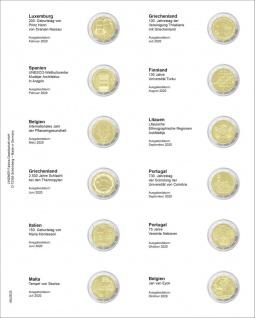 1 x LINDNER MU2E25 Multi Collect Münzhüllen Vordruckblatt 2 Euro Gedenkmünzen Luxemburg - Portugal 2020