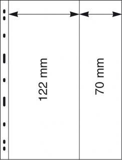 10 x LINDNER 082 UNIPLATE Blätter, glasklar 1 Streifen 122 x 258 mm & 1 Streifen 70 x 258 mm