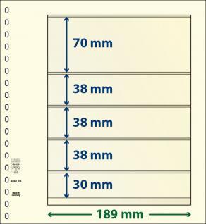10 x LINDNER 802514P T-Blanko-Blätter Blankoblatt 18-Ring Lochung 5 Taschen 70 / 38 / 38 / 38 / 30 x 189 mm
