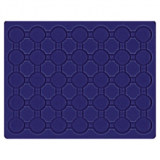 LINDNER 2494-11M CARUS-4 Echtholz Holz Münzkassetten 4 Tableaus blau 140 Fächer Münzen bis 32 x 32 mm 2 Euro in Münzkapseln 26 - Vorschau 4