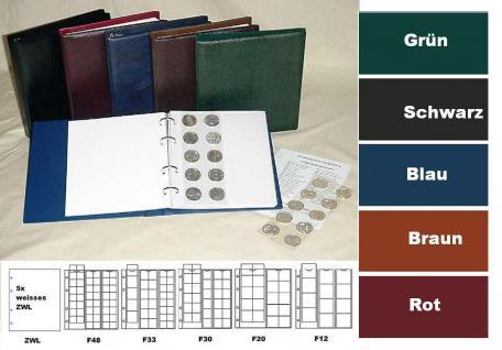 KOBRA FR-SO Weinrot - Rot Münzalbum Album Ringbinder + 5 Münzblättern Mixed + weisse Zwischenblättern ZWL Für 143 Münzen