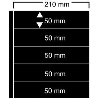 10 SAFE 425 Einsteckblätter Compact A4 CLIPFIX mit 5 Klemmstreifen 210 x 50 mm Für Sammelobjekte - Briefmarken