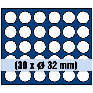 SAFE 5895 Elegance Holz Münzkassetten mahagonifarbend 3 Tableaus 6334SP - 9 runde Fächer Für 2 Euro Münzen Gedenkmünzen in Münzkapseln 26 - Vorschau 2