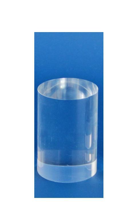 """SAFE 5215 ACRYLGLAS Deko Präsentations Säule Universal """" L """" Durchmesser 50 mm Höhe 75 mm - Für all die kleinen Schätze von A - Z"""
