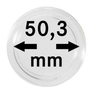 2 x Lindner S22705030P Spezial Münzkapseln Kapseln EXTRA HOCH Innen-Ø 50, 30 mm, Innenhöhe 8, 50 mm Ideal für Geocoins & TBs Travel Bugs & Geocaching - Vorschau 1