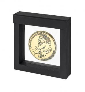 LINDNER 4839 NIMBUS 100 Schwarz Sammelrahmen Schweberahmen 3D 100x100x25 mm Für Taschenuhren - Armbanduhren - Uhren - Schmuck - Vorschau 3
