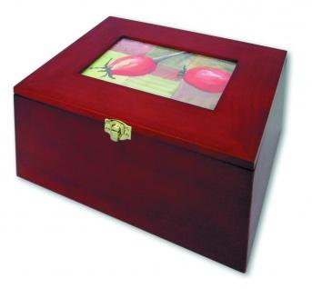 SAFE 5870 Postkartenbox Kassette aus Holz mahagonifarbend mit wechselbarer Deko Karte + 5 Leitkarten für bis zu 400 Karten - Vorschau 2