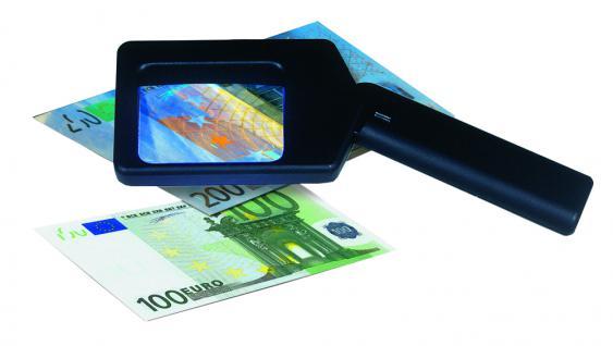 SAFE 1033 UV - Leuchtlupe Lupe Tester 2, 5x Vergrößerung + UV Licht Für Briefmarken Münzen Banknoten