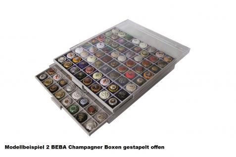 SAFE 6707-1 BEBA Champagner Sammelbox 49 Fächer 38, 7 mm + weinrote - rote Filzeinlagen für Champagnerdeckel - Champagnerkapseln & Kronkorken in Acryl - Kapseln - Vorschau 4