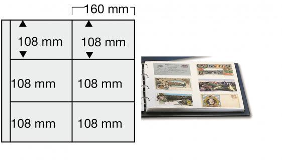 1 x SAFE 6010 Ergänzungsblätter WEISS Postkarten Ansichtskarten Fotos 6 Taschen 160 x 108 mm für 12 Karten
