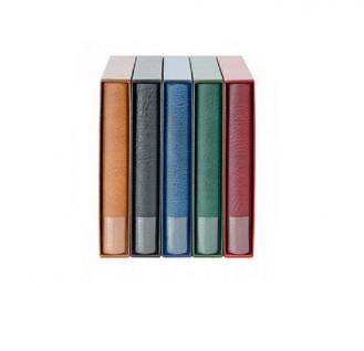 LINDNER 1402 - H Album Ringbinder Rondo Regular Multi Collect Hellbraun - Braun + Schutzkassette Für Briefmarken - Münzen - Banknoten - Vorschau 2
