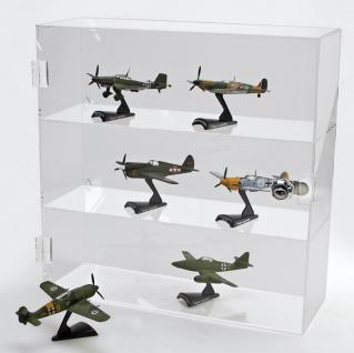 SAFE 5249 Acrylglas Design Viitrinen Setzkasten Box Medium 240 x 240 x 60 mm 3 Ebenen abschließbar - Für Orden - Ehrenzeichen - Abzeichen - Militaria