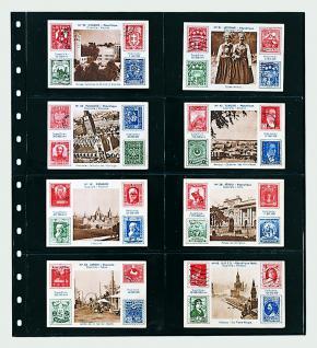 5 x SAFE 7734 Einsteckblätter Spezialblätter Favorit Schwarz 8 Taschen 125 x 70 mm Für 16 Spielkarten - Tradingcards