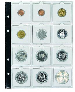5 x SAFE 7855 Coin Compact Münzhüllen Hüllen Ergänzungshüllen Für 12 Münzrähmchen Standard 50 x 50 mm