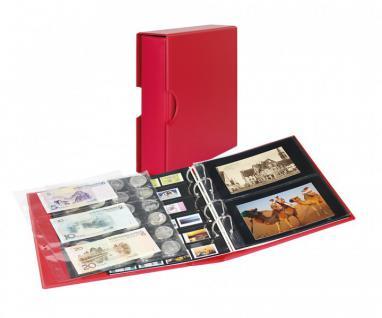LINDNER S3542PK-1 Berry Rot Postkartenalbum Album PUBLICA M COLOR + Kassette & 10 Hüllen Für Postkarten - Fotos - Bilder - Ansichtskarten
