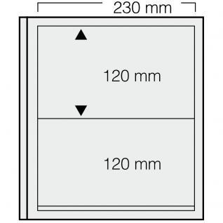 5 x SAFE 532 dual Blankoblätter Einsteckblätter Ergänzungsblätter mit je 1 Tasche 230 x 120 mm für Briefe DIN C6 lang