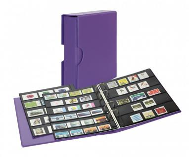 LINDNER S3542B-13 Viola - Lila Ringbinder Briefmarkenalbum PUBLICA M COLOR Multi Collect + Kassette & je 5 Blätter MU1315 & MU1316 Für Briefmarken & Blocks