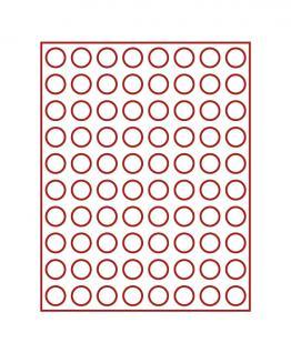 LINDNER 2708 Münzbox Münzboxen Rauchglas 80x 23, 5 mm Für 80 Stück 1 Euromünzen Euro / 1 DM
