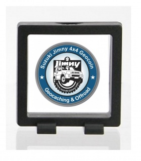 SAFE 4526 SCHWEBERAHMEN NEO RAHMEN FRAME PRESENTER 3D Schwarz 70 x 70 mm / 55 x 55 mm Für Geocoins - Münzen - Travel Bugs - Geocaching