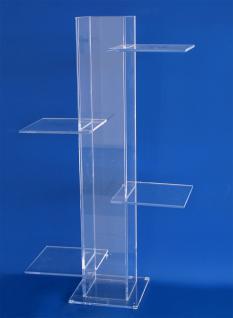 SAFE 5219 ACRYLGLAS Präsentationsturm Säule Universal Glasklar Höhe 60 cm mit 4 Ebenen 150 x 150 mm Für alle Schätze von A - Z