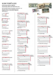 500 LINDNER 879P Schutzhüllen Klarsichthüllen Hüllen Telefonkarten Längsseite offen 92 x 58 mm - Vorschau 3
