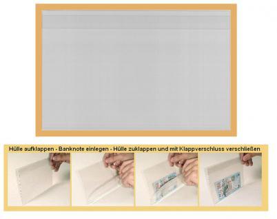 """100 x KOBRA T93 Banknotenhüllen Klapphüllen Schutzhüllen Hartfolie """" Special """" glasklar 201 x 127 mm Für Banknoten - Blocks - Briefmarken - Postkarten - Reklabilder - Vorschau 1"""