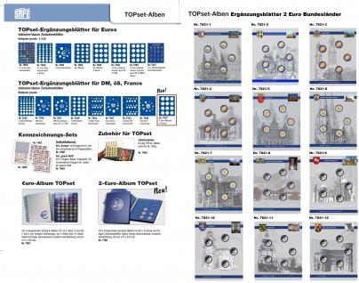 1 x SAFE 7856 TOPset Münzalbum Münzhüllen Ergänzungsblätter für Euromünzen Kursmünzensatz KMS 1 Cent bis 2 Euromünze - Vorschau 3