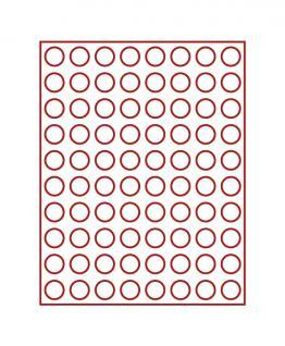 LINDNER 2980 MÜNZBOXEN Münzbox Rauchgals 80 x 22, 25 mm für 20 EURO Cent - 1/4 Unzen Goldmünzen