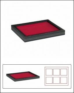 LINDNER 2367-2800E Nera M PLUS Sammelkassetten Hellrot Fenster 1 Fach ohne Unterteilung 210x270x18, 5mm