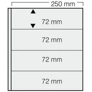 5 x SAFE 824 Einsteckblätter GARANT transparent glasklar 4 Taschen 250 x 72 mm Für Briefmarken Banknoten Briefe Sammelobjekte