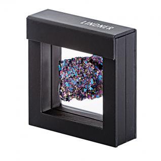 LINDNER 4839 NIMBUS 70 Schwarz Sammelrahmen Schweberahmen 3D 70x70x25 mm Für Mineralien Fossilien - Vorschau 1