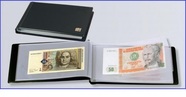 SAFE 226 Taschenbanknotenalbum Album 20 Seiten für bis zu 40 Banknoten Geldscheine - Vorschau 1