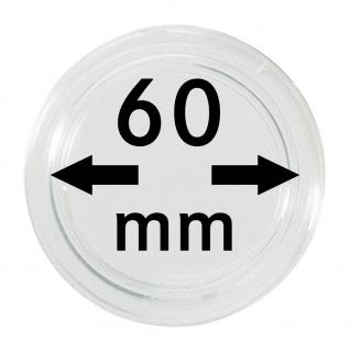 1 x Lindner S22706000 Spezial Münzkapseln Capsules EXTRA HOCH Innen-Ø 60 mm, Innenhöhe 5, 3 mm