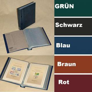 KOBRA G30 Hellbraun - Braun Postkartenalbum Sammelalbum + 40 glasklaren Blättern G32E für 160 Banknoten - Ansichtskarten - Postkarten - Vorschau 5