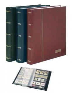 Lindner 1179-R Briefmarkenalbum Einsteckbücher Einsteckbuch Briefmarken Album Elegant Weinrot Rot 64 schwarze Seiten