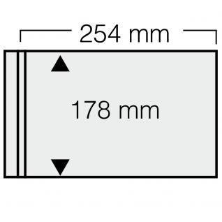 10 x SAFE 7982 Ergänzungsblätter Compact-Quer 254 x 154 mm mit beiger Einlage Für gr.Briefe ETB FDC