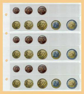 6 x KOBRA FEL-LAND-VAT Länderschildchen mit farbiger Flagge Vatikan - Vaticano Für die Münzblätter FE24 oder zum gestallten von Vordruckblättern - Vorschau 3