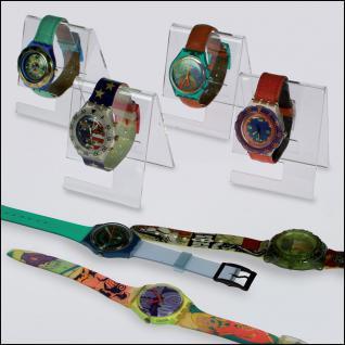 3 x SAFE 5278 ACRYL Deko Aufsteller Uhrenhalter H 90 x L 70 x T 65 mm für Uhren Damen Herren Kinder Armbanduhren Vitrinen - Vorschau 1