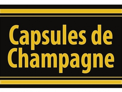 "1 x SAFE 1130 SIGNETTE Aufkleber selbstklebend Champagner Kapseln "" Capsules de Champagne """